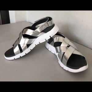 Cole Haan ZeroGrand Sandals Silver